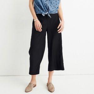 NWT Madewell Huston Wide Leg Crop Pull On Pants